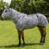 EQUITHÈME Máscara antimoscas Sweet Itch zebra completa/L 400117203