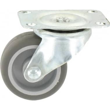 Roulette Mini-Roll à platine pivotante - 54 x 42 mm - GUITEL[1/2]