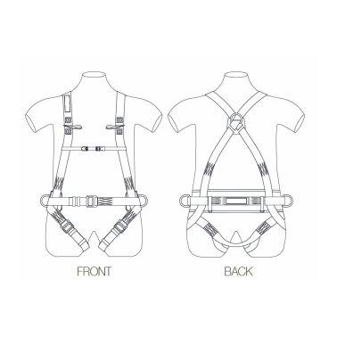 Harnais complet avec ceinture de maintien Toplock 4 points...[2/2]