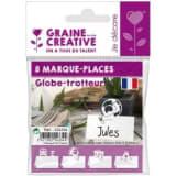 Graine Créative 8 marque-places Globe-trotteur