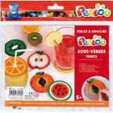 Perlou kit Dessous De Verres Fruits - Perlou