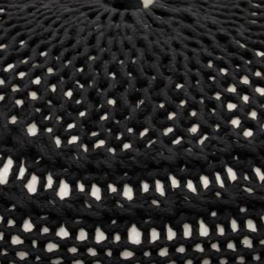 CMP-Pouf tresse en maille noir intérieur beige[2/2]