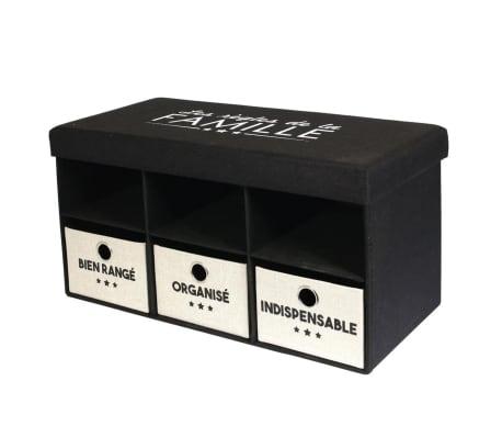 The Home Deco Factory-Coffre banc pliable avec rangements Famille[1/4]