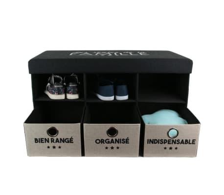 The Home Deco Factory-Coffre banc pliable avec rangements Famille[3/4]