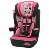 Disney Baby Car Seat LUXE Minnie Mouse 1+2+3 Pink and Black
