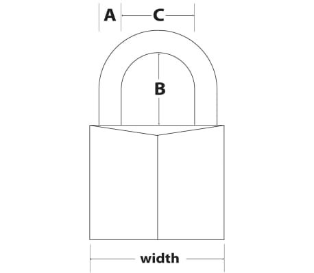 Master Lock Cadenas en laiton massif 70 mm 170EURD[2/2]