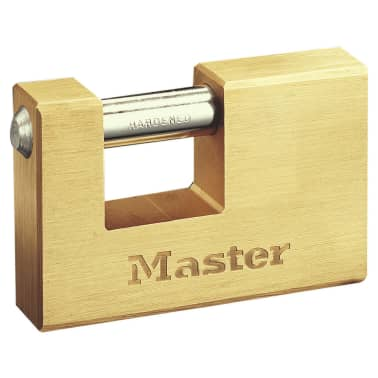 Master Lock Hangslot gepantserd massief messing 85 mm 608EURD[1/2]
