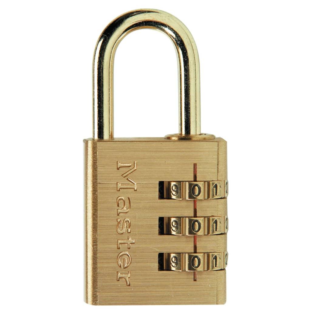 Afbeelding van Master Lock Combinatiehangslot aluminium geel 30 mm 630EURD