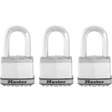 Master Lock Hangslot Excell 52 mm staal 3 st M5EURTRILF