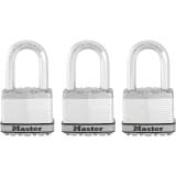 Master Lock Cadenas Excell 3 pcs Acier 52 mm M5EURTRILF
