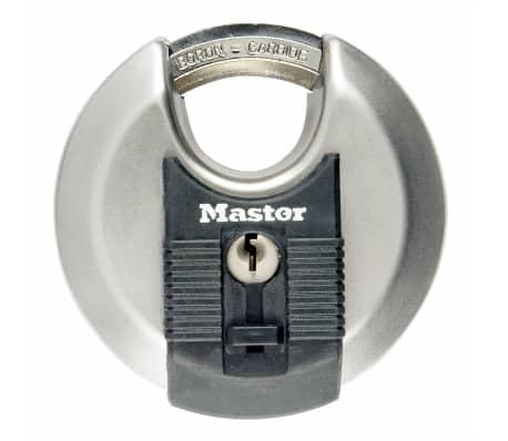 Master Lock Hänglås Excell diskusformad rostfritt stål 80 mm M50EURD