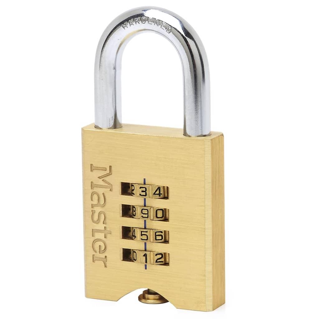 Afbeelding van Master Lock Combinatie hangslot 50 mm massief messing 651EURD