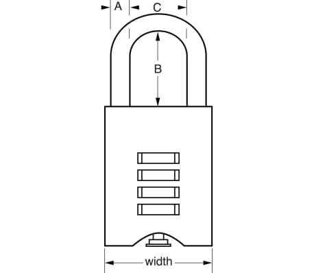 Master Lock Vorhängeschloss Massivmessing 50 mm 651EURD[3/3]