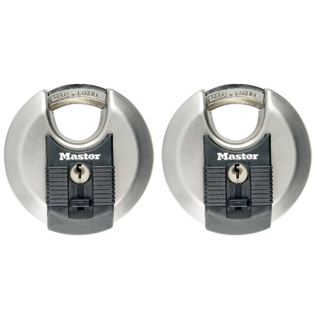 Afbeelding van Master Lock Discus hangslot Excell 70 mm roestvrij staal 2 st M40EURT