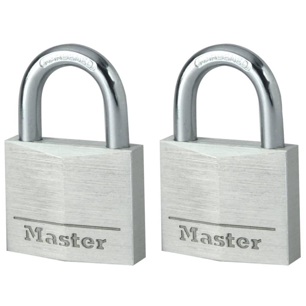 Afbeelding van Master Lock Hangslot 40 mm aluminium 2 st 9140EURT