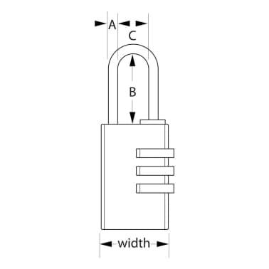Master Lock Kombinations-Vorhängeschloss Aluminium Silber 30 mm 7630EURD[2/2]