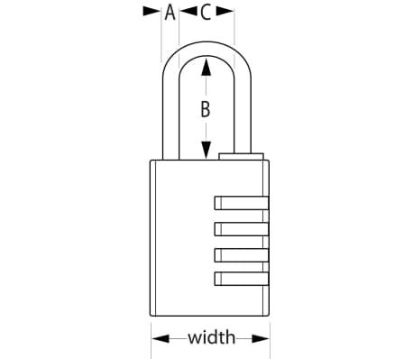 Master Lock Kombinations-Vorhängeschloss Aluminium 40 mm 7640EURD[2/2]