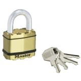 Master Lock Hangslot Excell 52 mm massief messing M5BEURD
