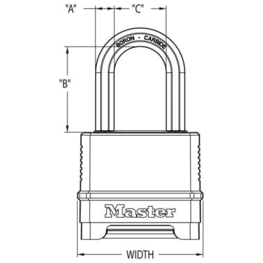Master Lock Vorhängeschloss Excell Zink 57 mm Schwarz M178EURD[6/6]