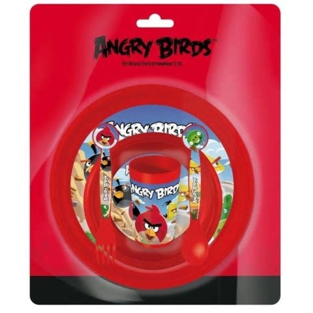 Afbeelding van Angry Birds Lunchset kunststof 5 delig rood