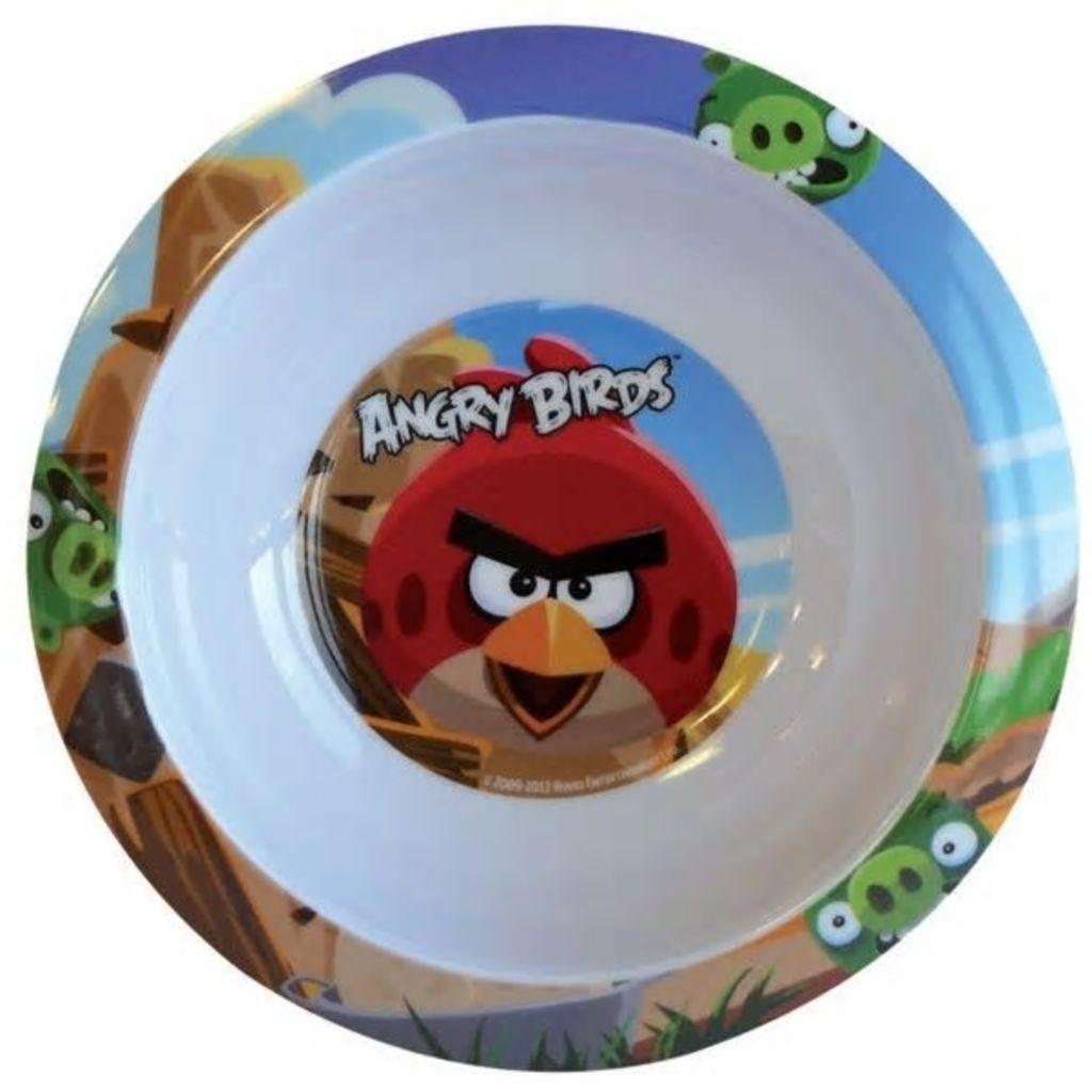Afbeelding van Angry Birds Kom kunststof 16 cm wit