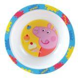 Peppa Pig Kom kunststof 16 cm wit