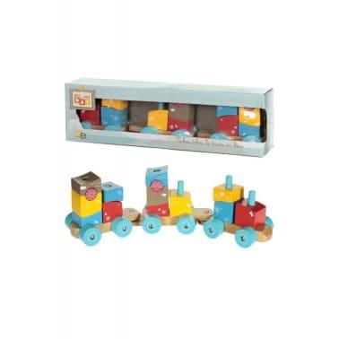 Le train en bois Tchoutchou et 14 blocs à empiler[1/1]
