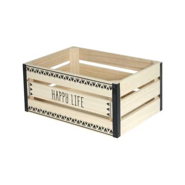 2 Cagettes de rangement Happy Life - 40 x 30 cm - Beige[3/4]