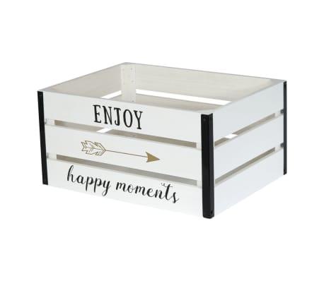 2 Cagettes de rangement Enjoy - 40 x 30 cm - Blanc[3/4]