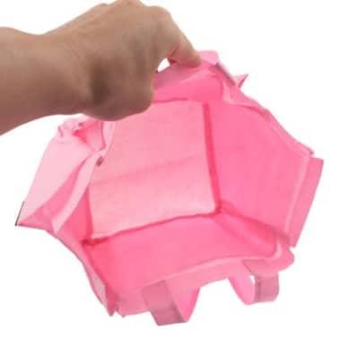 Sac à main à langer rose Mommy en tissu non tissé avec 6 poches extéri[3/4]