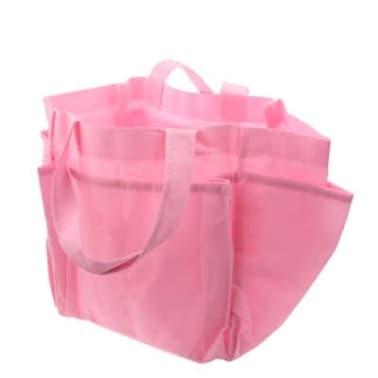 Sac à main à langer rose Mommy en tissu non tissé avec 6 poches extéri[4/4]