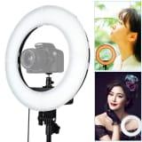 Lumière Selfie Lampe de poche à retardateur à DEL avec anneau pour pho