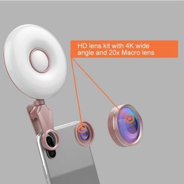 Lumière Selfie Professionnel Beauty Light Clip de remplissage du flash[3/8]