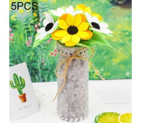 Fleurs Artificielles 5 PCS DIY Tissus Non-tissés Simulation De En Pot[1/5]