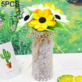 Fleurs Artificielles 5 PCS DIY Tissus Non-tissés Simulation De En Pot