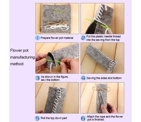 Fleurs Artificielles 5 PCS DIY Tissus Non-tissés Simulation De En Pot[5/5]