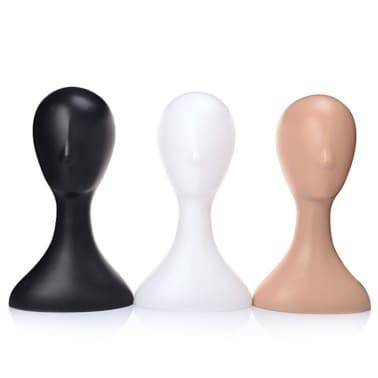 Mannequin en plastique femelle tête modèle mousse perruque cheveux lun[1/6]