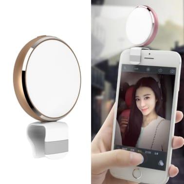Lumière Selfie de remplissage à DEL USB Beauty Live Round avec miroir[1/8]