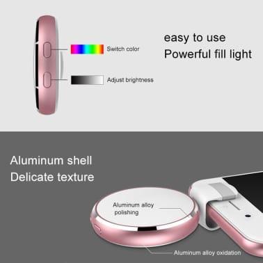 Lumière Selfie de remplissage à DEL USB Beauty Live Round avec miroir[8/8]
