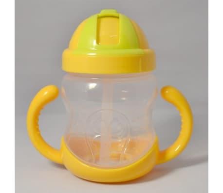 280 ml bébé bouteille enfants tasse de silicone sippy formation tasses[3/6]