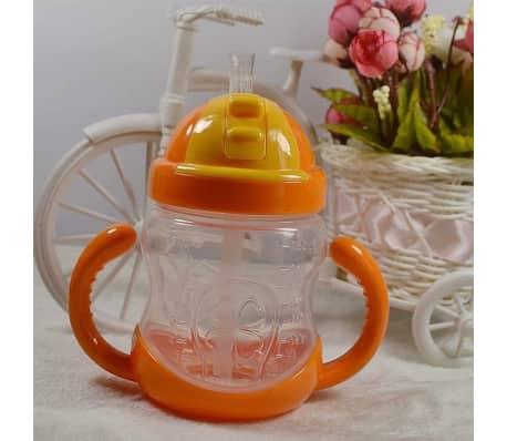 280 ml bébé bouteille enfants tasse de silicone sippy formation tasses[5/6]