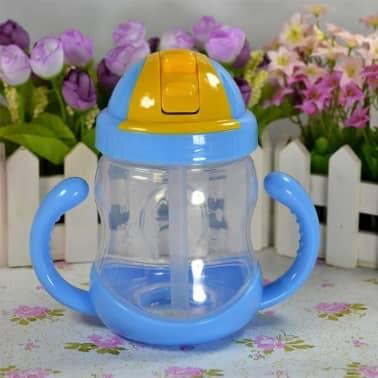 280 ml bébé bouteille enfants tasse de silicone sippy formation tasses[2/6]