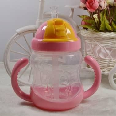 280 ml bébé bouteille enfants tasse de silicone sippy formation tasses[4/6]