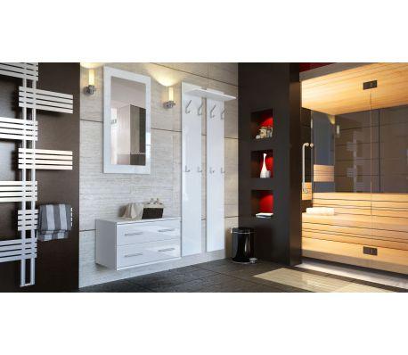 Meubles D Entree Design En Blanc Laquee Vidaxl Fr