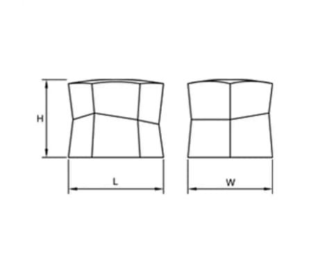 Bouton de meuble COFFE hexagone hauteur 25 mm noir[2/2]