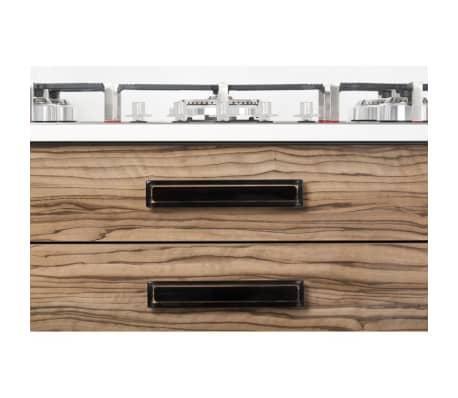 Poignée de meuble rectangulaire CORE 96/125 mm acrylique noire[3/3]