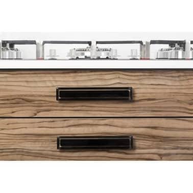 Poignée de meuble rectangulaire CORE 96/125 mm acrylique noire[2/3]