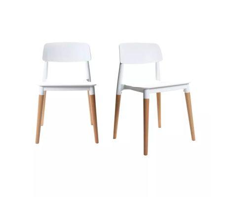 Coppia di sedie design scandinave bianche | vidaXL.it