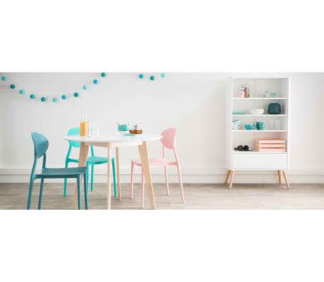 Lotto di 2 sedie design Grigio in polipropilene