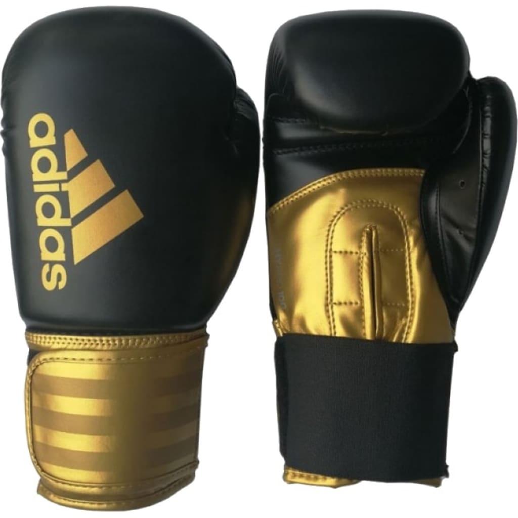 Afbeelding van adidas bokshandschoenen Hybrid 100 junior zwart/goud maat 6 oz